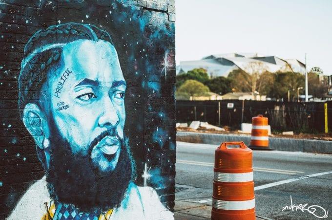 Nipsey Hussle Mural by Artist Keenan Chapman
